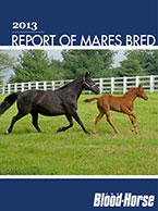 2013 Report of Thoroughbred Mares Bred