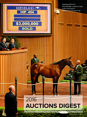 2016 Auctions Digest: A Guide to North American Thoroughbred Sales