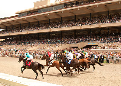 OUT OF THE GATE: The first race on opening day of the Del Mar summer meet is in this week's issue of The Blood-Horse.