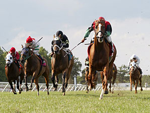 A Unique Treasure wins the 2010 My Frenchman Stakes.