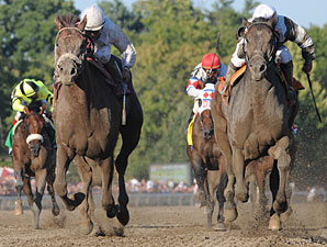 Afleet Express Nips Fly Down in Travers