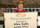 Milestone 5,000th Victory for Jockey Solis