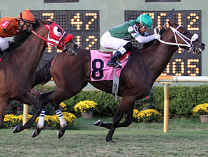 Amanecer De Oro wins the A. L. (Red) Erwin Stakes at Louisiana Downs.