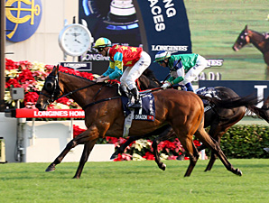 Ambitious Dragon wins the Hong Kong Mile.