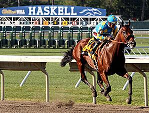 American Pharoah wins the William Hill Haskell Invitational.