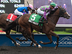 Ami's Holiday wins the 2013 Grey Stakes.
