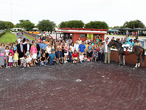Another Romance wins the 2012 Azalea Stakes.