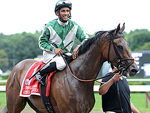Artemis Agrotera wins the 2014 Ballerina Stakes.
