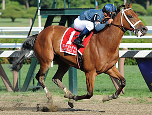 Ask the Moon wins the Ruffian Stakes.