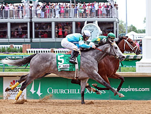 Authenticity wins the La Troienne at Churchill Downs May 3, 2013