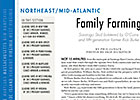 Northeast/Mid-Atlantic: Family Farming