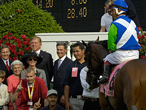 Barbaro in the Kentucky Derby Winner's Circle.