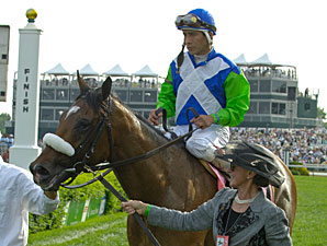 Barbaro after winning the Kentucky Derby.
