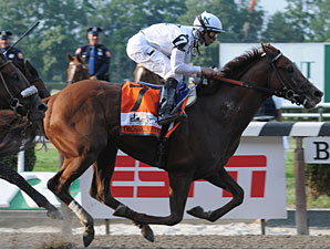 Drosselmeyer wins the 2010 Belmont Stakes.