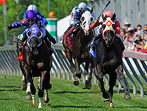 Ben's Cat wins the 2015 Jim McKay Turf Sprint.