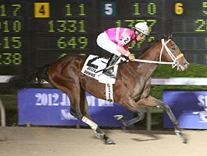 Bern Identity wins the 2012 Jean Lafitte Stakes.