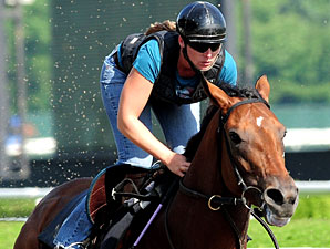 Big Brown Draws the Rail in the Belmont