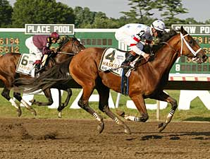 Big Brown outfinished Coal Play to win the Haskell Invitational (gr. I).