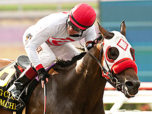 Big Macher wins the Bing Crosby Stakes 7/27/2014.