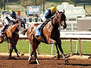 Blue Tone wins the Santana Mile.