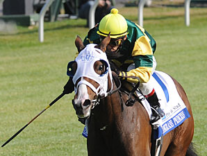 Bluegrass Princess wins the first division of the 2009 Valley View Stakes.