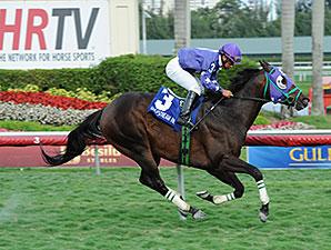 Bold Thunder wins the 2014 Silks Run Stakes.