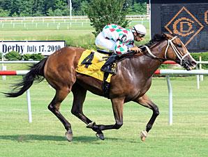 Bopolene wins the 2010 Oakley Stakes.