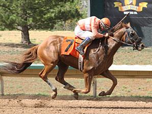 Bourbon Pride wins the Colorado Derby.