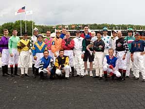 Arlington Riders Greet Aspiring Jockey