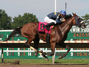 Brushed By A Star wins the Molly Pitcher Stakes.