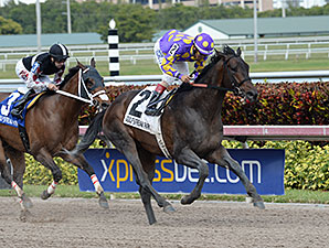 C. Zee wins the 2015 Gulfstream Park Sprint Stakes.