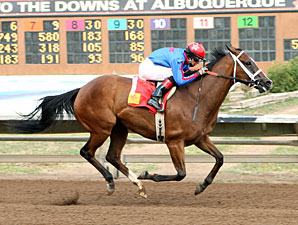 Cali Baby wins the 2012 Carlos Salazar Stakes.
