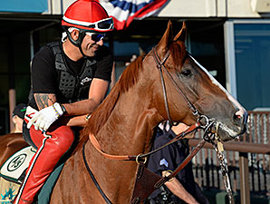 California Chrome Taking it Easy at Los Al