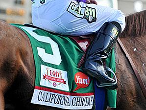 California Chrome wins the 2014 Kentucky Derby.