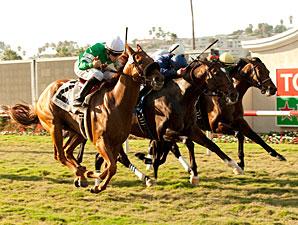 Caracortado wins the 2011 Del Mar Mile