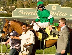 Caracortado wins the 2010 Robert Lewis Stakes.