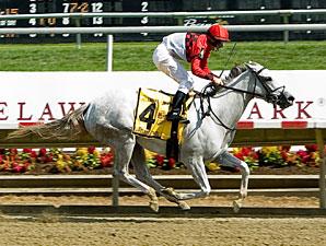 Careless Jewel wins the 2009 Delaware Oaks.