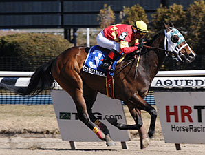 """Castaneda wins the 2010 Fred """"Cappy"""" Capossela stakes."""