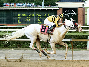 Rare White Thoroughbred Wins at Mountaineer