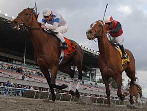 Chocolate Candy holds off Massone to win the El Camino Real Derby