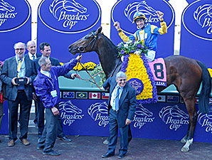 Chriselliam wins the 2013 Breeders' Cup Juvenile Fillies Turf.