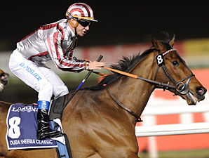 Cirrus Des Aigles wins the 2012 Dubai Sheema Classic.