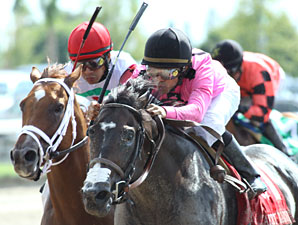 Coffee Boy wins the 2010 Carry Back.