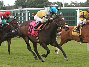 Colony Club wins the 2011 Fort Monmouth Stakes.