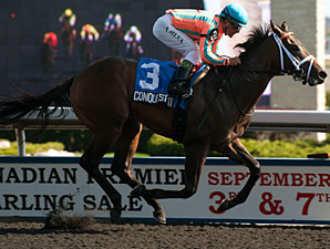 Borel on Conquest Titan in Arkansas Derby