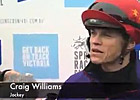 Cox Plate Preview - Jockey Craig Williams