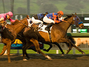 No Quit in Crisp in Santa Anita Oaks Upset