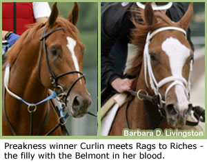 Steve Haskin's Belmont Report: Curlin vs. Rags Has Belmont Abuzz