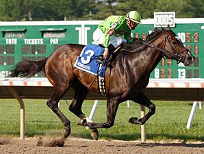 Dabnabit wins the 2011 John J. Reilly Handicap.