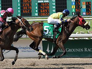 Daisy Devine wins the 2011 Fair Ground Oaks.